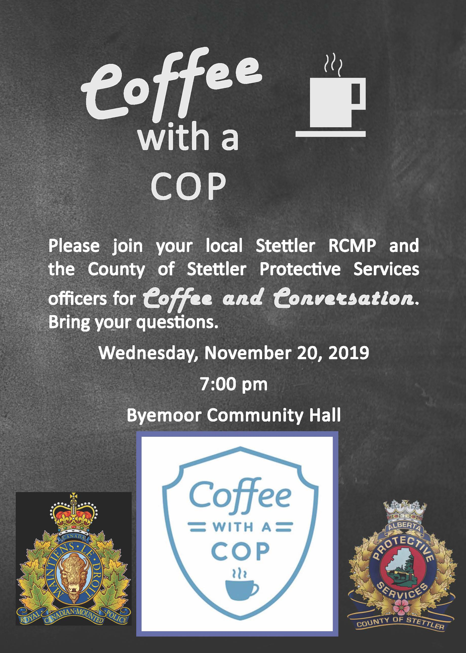 Coffee with a Cop Poster Byemoor